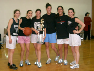 Members of Team Black celebrate victory in the Washington, DC area YAL Women's Spring 2005 Tournament.