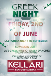 Please join us on Friday June 2, 2017 for Kellari Taverna's First Friday of the Month Greek Night for a fun evening of authentic Greek music, food and dancing with live Greek music starting at 9:00 PM! Click here for details!