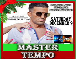 Hip Hop Legends Master Tempo come to Baltimore for the first time and performs along with Apollonia Band and DJ Serafim at Greektown Square! Proceeds benefit St. Nicholas Greek Orthodox Church in Baltimore, MD. Tickets now on sale at DCGreeks.com.