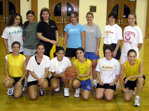 Members of the newly formed Greek Orthodox Women's Basketball team at one of their first practices.  The group has already seen an increase in the number of participants in just a few practices.